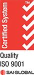 SAI Quality ISO 9001 Creditation logo