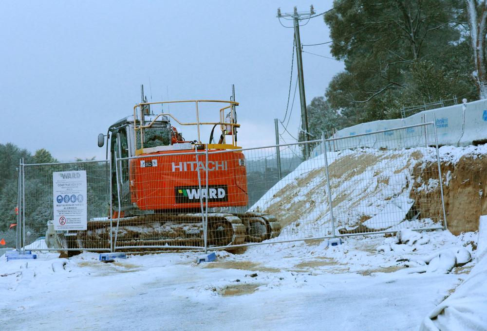 Snowfall at Mount Victoria